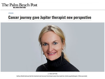 Dr. Kathy Shafer Tells Her Story in Palm Beach Post Feature